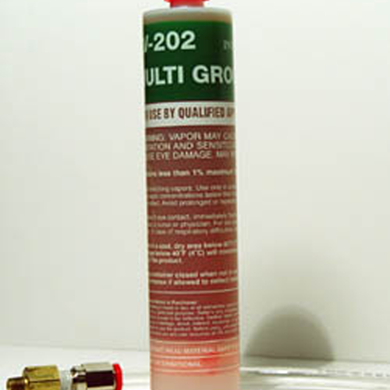 Hydrophilic Grout Av 202 Cures When Reacted With Water