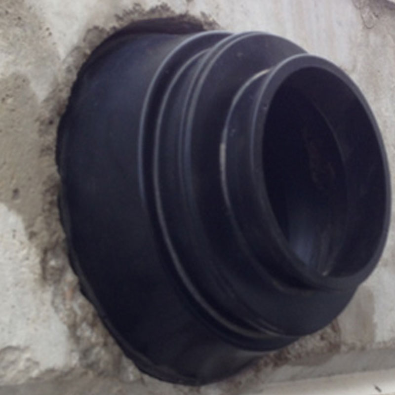 Flexible boot connector for manholes or straight wall