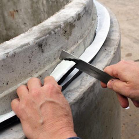 Pro Stik Butyl applied to concrete manhole