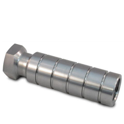 Concrete rail tie insert stainless steel